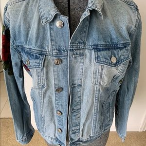 Women's Pac Sun embroidered Jean Jacket size S